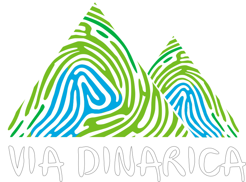 via dinarica logo white text